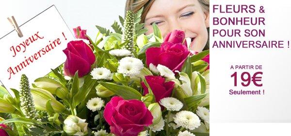 fleurs pour anniversaire de naissance